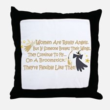 Women Are Like Angels Throw Pillow