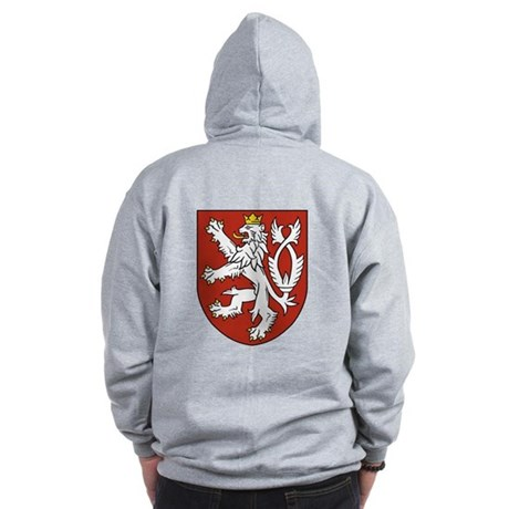 Bohemia Coat of Arms (Back) Zip Hoodie