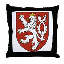 Bohemia Coat of Arms Throw Pillow