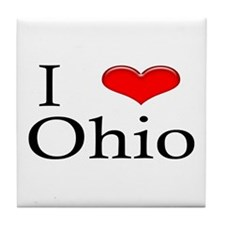 I Heart Ohio Tile Coaster