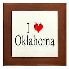 I Heart Oklahoma Framed Tile