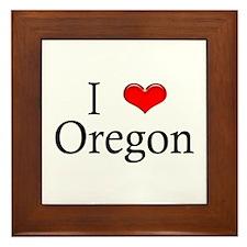 I Heart Oregon Framed Tile