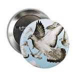 "Flying Homer Pigeons 2.25"" Button (10 pack)"