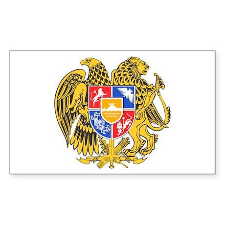 Armenia Coat of Arms Sticker (Rectangle)