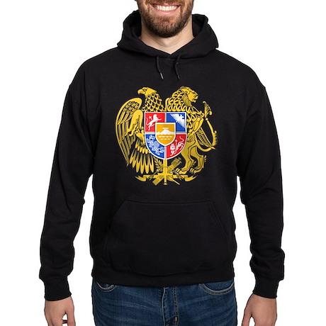 Armenia Coat of Arms (Front) Hoodie (dark)