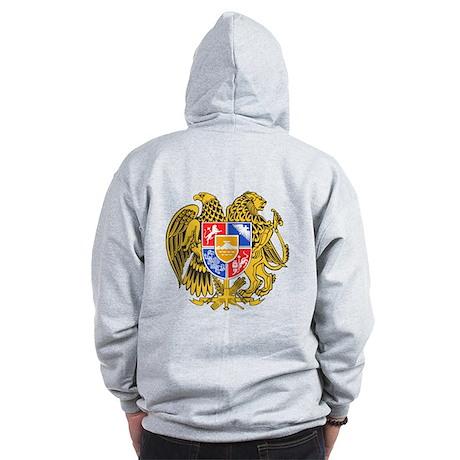 Armenia Coat of Arms (Back) Zip Hoodie