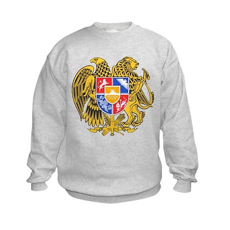 Armenia Coat of Arms (Front) Kids Sweatshirt