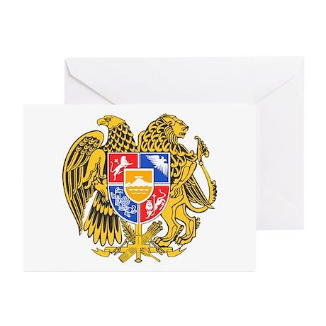 Armenia Coat of Arms Greeting Cards (Pk of 20)