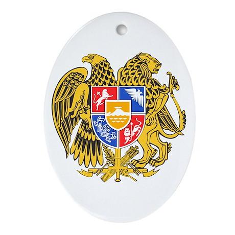 Armenia Coat of Arms Ornament (Oval)