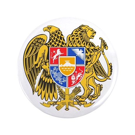 "Armenia Coat of Arms 3.5"" Button"