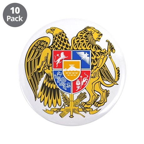 "Armenia Coat of Arms 3.5"" Button (10 pack)"