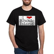 I Heart Rhode Island Black T-Shirt