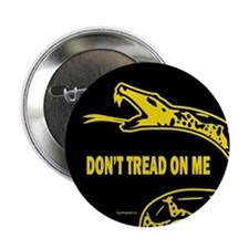 """Classic Gadsden - Zoomed 2.25"""" Button (10 pack)"""
