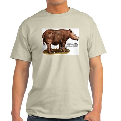 Sumatran Rhinoceros Light T-Shirt