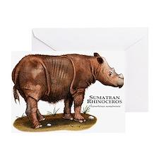 Sumatran Rhinoceros Greeting Card