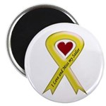 Yellow Ribbon Love Miss Sailor Magnet