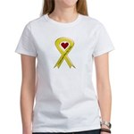 Yellow Ribbon Love Miss Sailor Women's T-Shirt