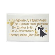 Women Are Like Angels Rectangle Magnet