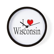 I Heart Wisconsin Wall Clock