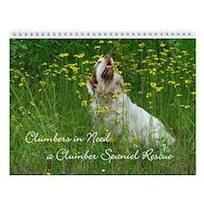 Clumber Spaniel Wall Calendar