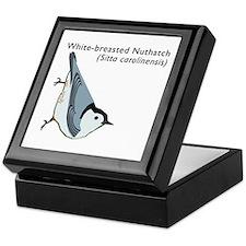 white-breasted nuthatch Keepsake Box
