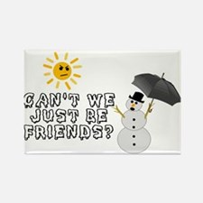 Just Be Friends Rectangle Magnet