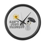 Just Be Friends Large Wall Clock