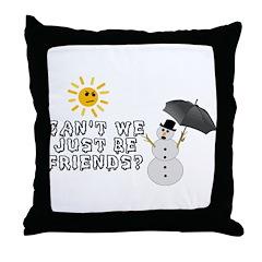 Just Be Friends Throw Pillow