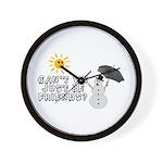 Just Be Friends Wall Clock