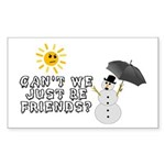 Just Be Friends Sticker (Rectangle)