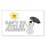 Just Be Friends Sticker (Rectangle 50 pk)
