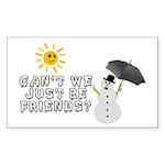 Just Be Friends Sticker (Rectangle 10 pk)