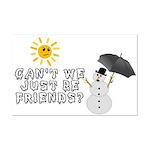 Just Be Friends Mini Poster Print