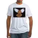 Domestic Flight Pigeon Fitted T-Shirt