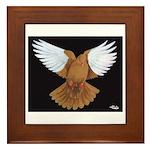 Domestic Flight Pigeon Framed Tile