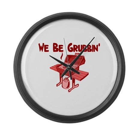 We Be Grubbin Large Wall Clock
