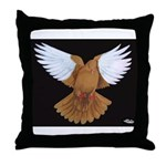 Domestic Flight Pigeon Throw Pillow