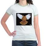 Domestic Flight Pigeon Jr. Ringer T-Shirt