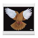 Domestic Flight Pigeon Tile Coaster