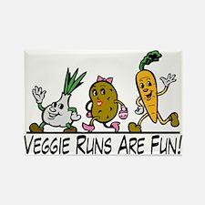 Veggie Runs Rectangle Magnet