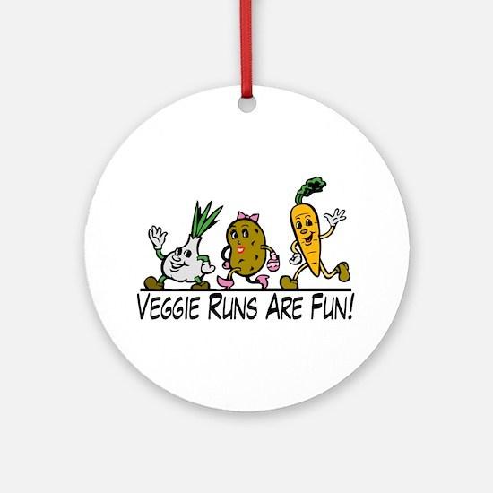 Veggie Runs Ornament (Round)