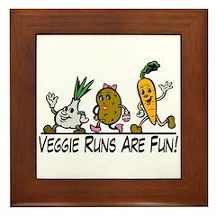Veggie Runs Framed Tile