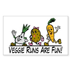 Veggie Runs Decal