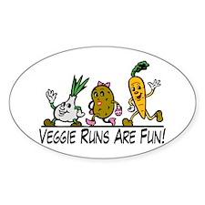 Veggie Runs Decal