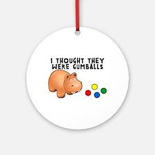 Hippo Gumballs Ornament (Round)