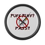 Puff Puff Pass Large Wall Clock