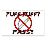 Puff Puff Pass Sticker (Rectangle 50 pk)