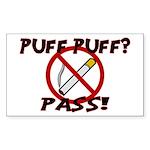 Puff Puff Pass Sticker (Rectangle 10 pk)