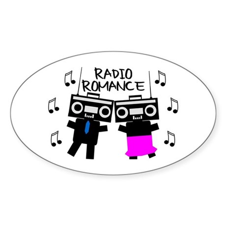 Radio Romance Sticker (Oval)