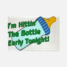 Hittin The Bottle Rectangle Magnet